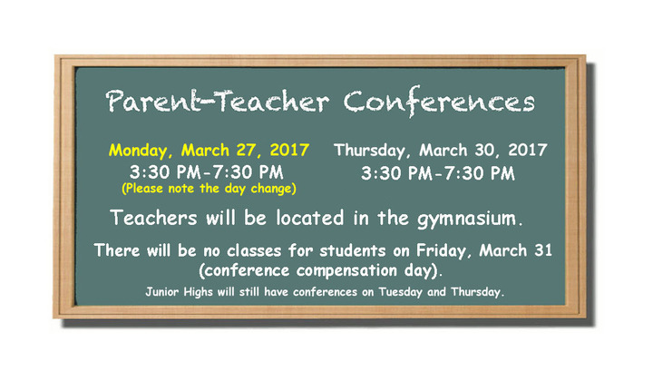 Parent teacher conferences chalk+spring+2017