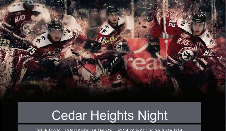 Cedar+heights+night+at+black+hawks